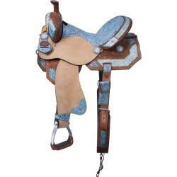 Silver Royal Macaelah Barrel Saddle 16in found on Bargain Bro from StateLineTack.com for USD $424.84
