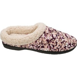 Dearfoams Women's Boucle Clog Slipper with Faux Shearing Aubergine S found on Bargain Bro India from Hanes Underwear for $10.50