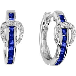 Kelly Herd Elegant Buckle Earrings Blue found on Bargain Bro India from Horse.com for $137.50
