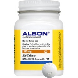 Albon 125mg Tablets 1 Count found on Bargain Bro from Dog.com for $0.49