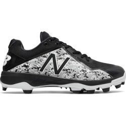 New Balance Low-Cut 4040v4 Pedroia TPU Baseball Cleat Mens Shoes Black with White