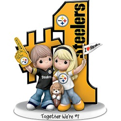 Precious Moments Romantic Pittsburgh Football Figurine found on Bargain Bro India from Bradford Exchange for $89.98