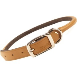 Rolled Oak Leather Collar Tan 10 Inch found on Bargain Bro India from StateLineTack.com for $11.29