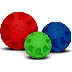 Swirl Ball Soft Flex Dog Toy 7in