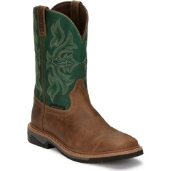 Justin Mens Stampede Bolt Sq Boots 10 D Tan found on Bargain Bro India from Horse.com for $119.95