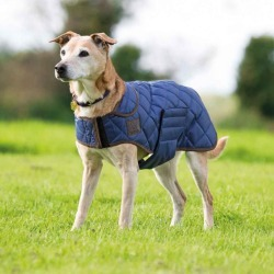 Digby and Fox Quilted Coat Small Navy Blue