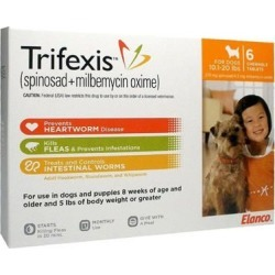 Trifexis Chewable Tablets for Dogs 10-20lbs 6 Mont
