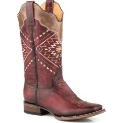 Roper Ladies Native Square Toe Wine Boots 8.5 found on Bargain Bro India from Horse.com for $190.99