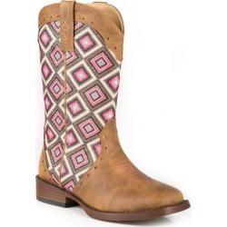 Roper Toddler Sq Toe Pink Diamond Glitter Boots 11 found on Bargain Bro India from Horse.com for $55.99
