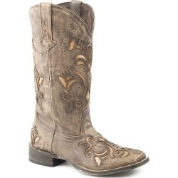 Roper Ladies Sq Toe Tan Sanded Leather Boots 8.5 found on Bargain Bro India from Horse.com for $162.99