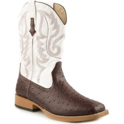 Roper Mens Sq 11in Faux Ostrich White Boots 9.5 found on Bargain Bro India from StateLineTack.com for $90.99
