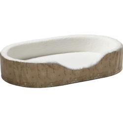 Quiet Time Script Tan Ortho Nesting Dog Bed SM found on Bargain Bro India from Horse.com for $37.49