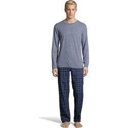 Hanes Men's Jersey Flannel Sleep Set Blue Space Dye M found on Bargain Bro India from Hanes Underwear for $21.75