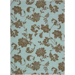 Home & Garden Elegant Floral Blue Rugs