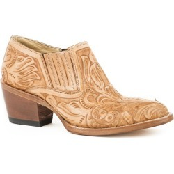 Stetson Ladies Rnd Toe Burnished Tan Boots 7.5 B