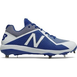 New Balance Low-Cut 4040v4 Metal Baseball Cleat Mens Shoes Blue with White