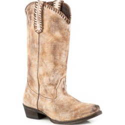 Roper Ladies Whip It Snip Toe Tan Boots 8 found on Bargain Bro India from Horse.com for $153.99
