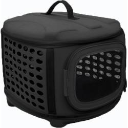 Pet Life Circular Military-Grade Pet Carrier Black