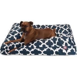 Majestic Outdoor Navy Trellis Rectangle Pet Bed SM