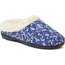 Dearfoams Women's Boucle Clog Slipper with Faux Shearing Peacoat S found on Bargain Bro India from Hanes Underwear for $10.50