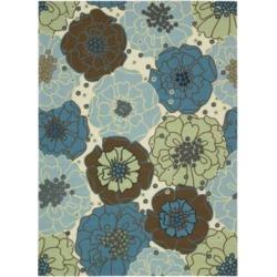 Home & Garden Bouquet Blue Rugs