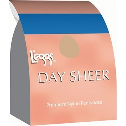 Leggs Day Sheer Control Top, Toe Pantyhose 4-Pack Nude A