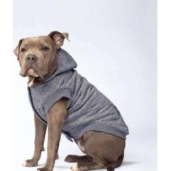 Canada Pooch Cozy Caribou Dog Hoodie 18 Grey