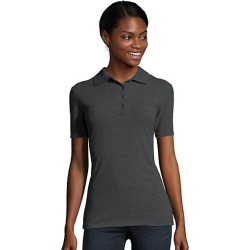 Hanes Women's FreshIQ X-Temp Pique Polo Charcoal Heather L found on Bargain Bro Philippines from Hanes Underwear for $7.50