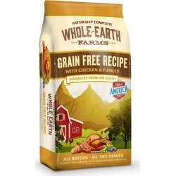 Whole Earth Farms Chicken Dry Dog Food 25lb found on Bargain Bro from StateLineTack.com for USD $33.74