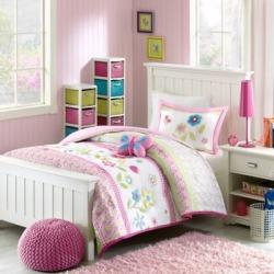 MiZone Kids Flower Power 4-Pc. Comforter Set - Full/Queen Multi, Full/Queen