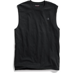 Champion Men's Classic Cotton Muscle Tee Black S