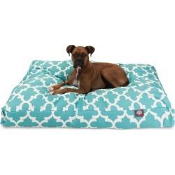 Majestic Outdoor Teal Trellis Rectangle Pet Bed LG