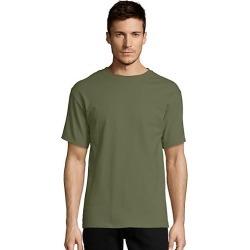 Hanes Men's TAGLESS Short-Sleeve T-Shirt Fatigue Green 2XL