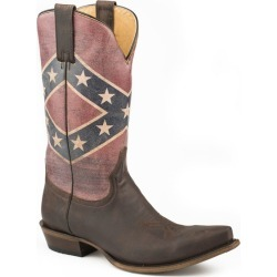 Roper Mens Rebel Flag Snip Toe Boots 8.5 EE Brown found on Bargain Bro India from StateLineTack.com for $208.99