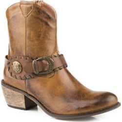 Roper Ladies Dev Snip Toe Belt Booties 8 found on Bargain Bro Philippines from Horse.com for $56.99