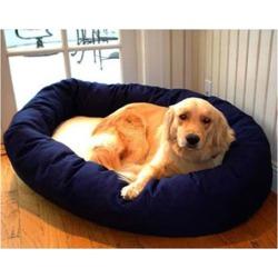 Majestic Pet Sherpa Bagel Dog Bed MD Blue