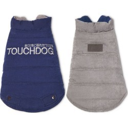 Touchdog Waggin Swag Pet Coat LG Blue / Brown