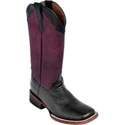 Ferrini Ladies Embossed Square Toe Black Boots 6 found on Bargain Bro India from Horse.com for $189.99