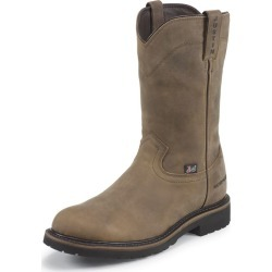 Justin Mens WorkerII Wtrprf Tan Steel Work Boot 11 found on Bargain Bro India from StateLineTack.com for $146.62