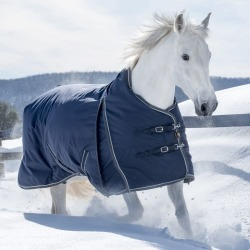 Lami-Cell Pro-Fit Turnout Sheet 66 Navy/Gray found on Bargain Bro from Horse.com for USD $144.39