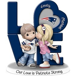 Precious Moments Our Love Is New England Patriots Strong Figurine with 2 Names found on Bargain Bro India from Bradford Exchange for $89.98