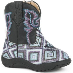 Roper Cowbabies Glitter Diamonds Boots 2 Black found on Bargain Bro India from StateLineTack.com for $37.99