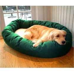 Majestic Pet Sherpa Bagel Dog Bed MD Green