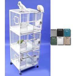 A and E Medium Triple Stack Bird Cage Platinum