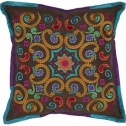 """Bohemian Calycopis Pillow 18"""" x 18"""" Pillow - Chocolate Chocolate"""