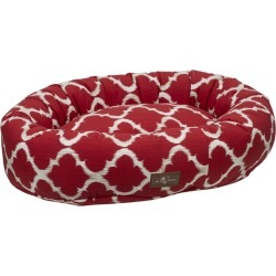 Jax and Bones Monaco Scarlet Donut Dog Bed Large found on Bargain Bro India from Horse.com for $138.00