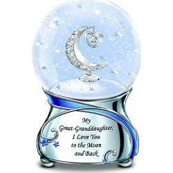Musical Glitter Globe for Great-Granddaughter with Swarovski Crystal found on Bargain Bro India from Bradford Exchange for $59.99
