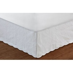 Greenland Home Paisley Quilted Bedskirt White, Full