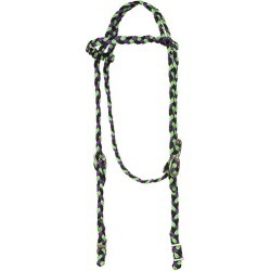 Mustang Nylon Braided Slip Ear Headstall Blk/Pnk found on Bargain Bro India from StateLineTack.com for $17.79