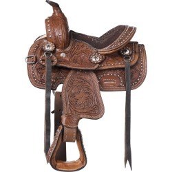 Silver Royal Braden Trail Mini Saddle Medium Oil found on Bargain Bro Philippines from Horse.com for $149.00